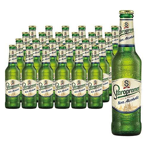 Staropramen Premium Non Alcoholic. Cerveza Sin Alcohol. 0,49% Vol. Caja con 24 botellas de 330 ml