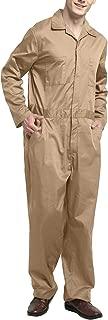 Men's Regular Long Sleeve Snap Zip-Front Coverall