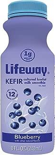 Lifeway, Low Fat Kefir, Blueberry, 8 oz