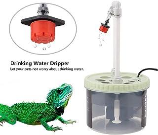 TUDIO Reptil Goteo de Agua Potable Camaleón Lagarto Dispensador de Agua Cilindro Filtro de Agua Gotero