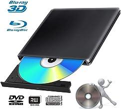 $79 » External 4K 3D Blu Ray DVD Drive Burner, Portable Ultra Slim USB 3.0 Blu Ray BD CD DVD Burner Player Writer Reader Disk for Mac OS, Windows 7/8.1/10 /Linxus, Laptop, PC