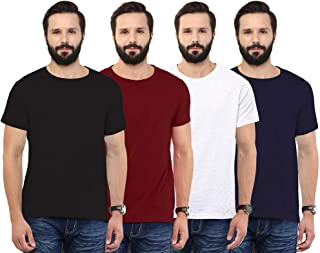 Buy Aventura Outfitters Men s Regular Fit T-Shirt(Pack of 4) (AO23-S_Black & Red_Small) at Amazon.in
