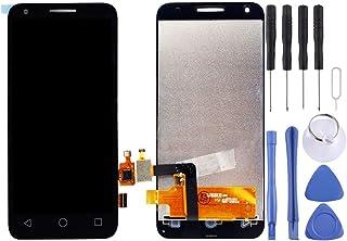 مجموعة كاملة من شاشة LCD ومحول رقمي من Lingland لهاتف Alcatel One Touch Pixi 3 4.5/5019 (أسود) .الهاتف الخليوي الخلفي يغطي...