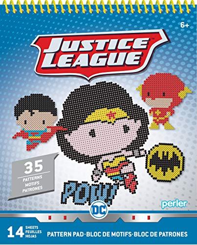 Perler Beads Chibi DC Justice League Fuse Bead Pattern Pad, 35 Patterns