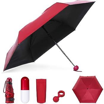 Parapluie de voyage compact tournesol cadre renforc/é r/ésistant au vent parapluie portatif robuste /à s/échage rapide