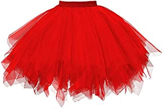 e4653f54914 Siswong Jupe Bouffante Tulle Femme Ballet Tutu en Tulle Jupe Courte Style