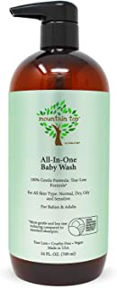 MOUNTAIN TOP All-in-One Baby Wash (24 Fl Oz / 709 ml) with Premium USDA Biobased Ingredients, Sulfate-Free, Tear-Free, Hyp...