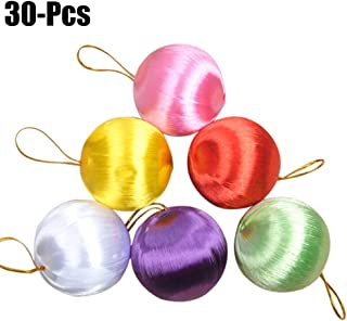 Funpa Christmas Ball Ornaments, 30 Pack 1.97 Inch Multicolored Hanging Decoration Set for Xmas Party Home Tree Decor