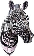 Cardboard Safari Recycled Cardboard Animal Taxidermy Zebra Trophy Head, Lifelike Small