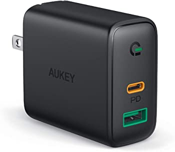 Aukey Focus PA-D1 30W 2-Port PD 3.0 USB-C Wall Charger
