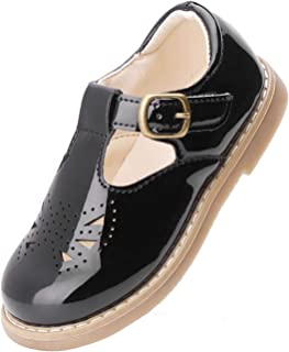 PPXID Toddler Little Girl's Princess T-Bar School Uniform Dress Shoes Oxford Shoes Mary Jane Flats
