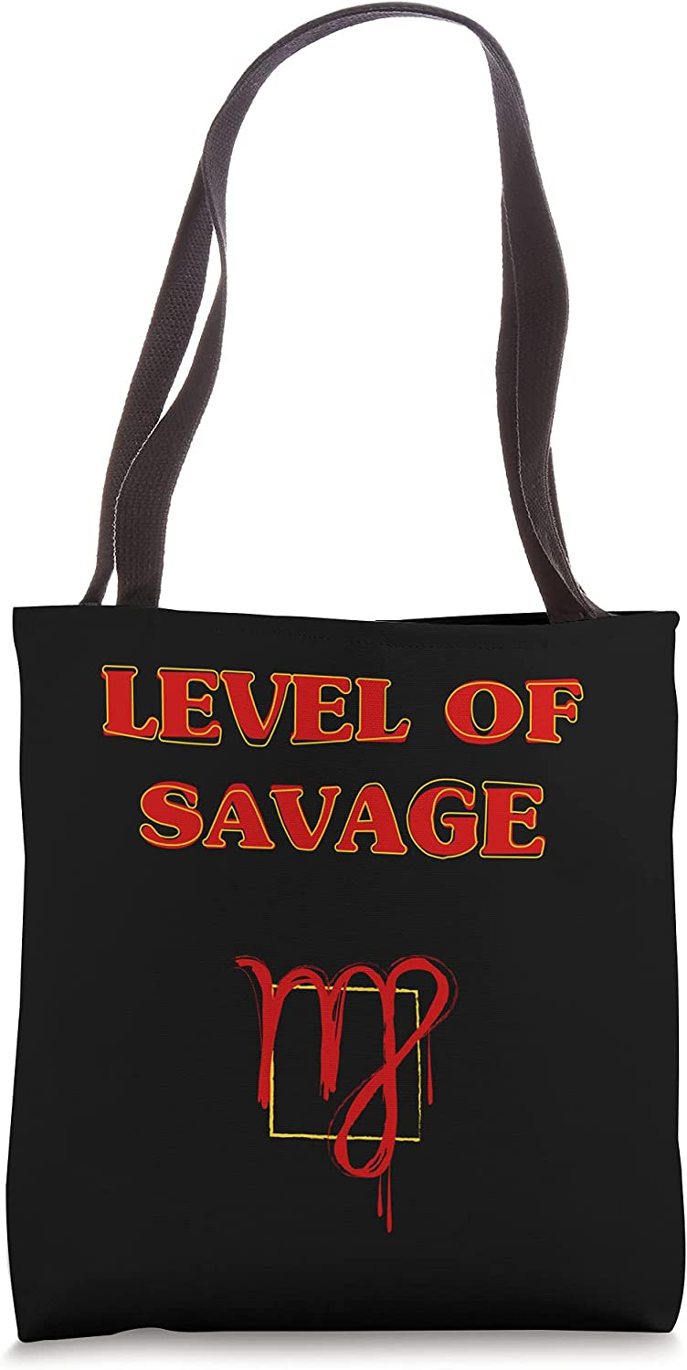Aesthetic Level of Savage Virgo Bag Zodiac Cool Tote Sign Animer ...