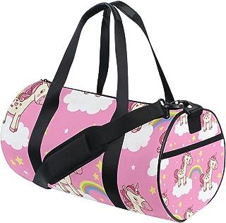 TIZORAX - Bolsa de viaje para gimnasio, diseño de unicornio, color rosa