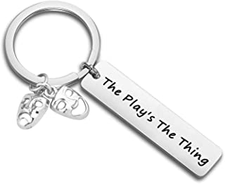 CHOORO Drama Mask Keychain Comedy Tragedy Mask Jewelry The Play's The Thing Theater Gift for Actor/Actress