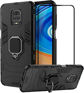 2ndSpring Case for Xiaomi Redmi Note 9S/Note 9 Pro/Note 9 Pro Max with Tempered Glass Screen Protector,Hybrid Heavy Duty P...
