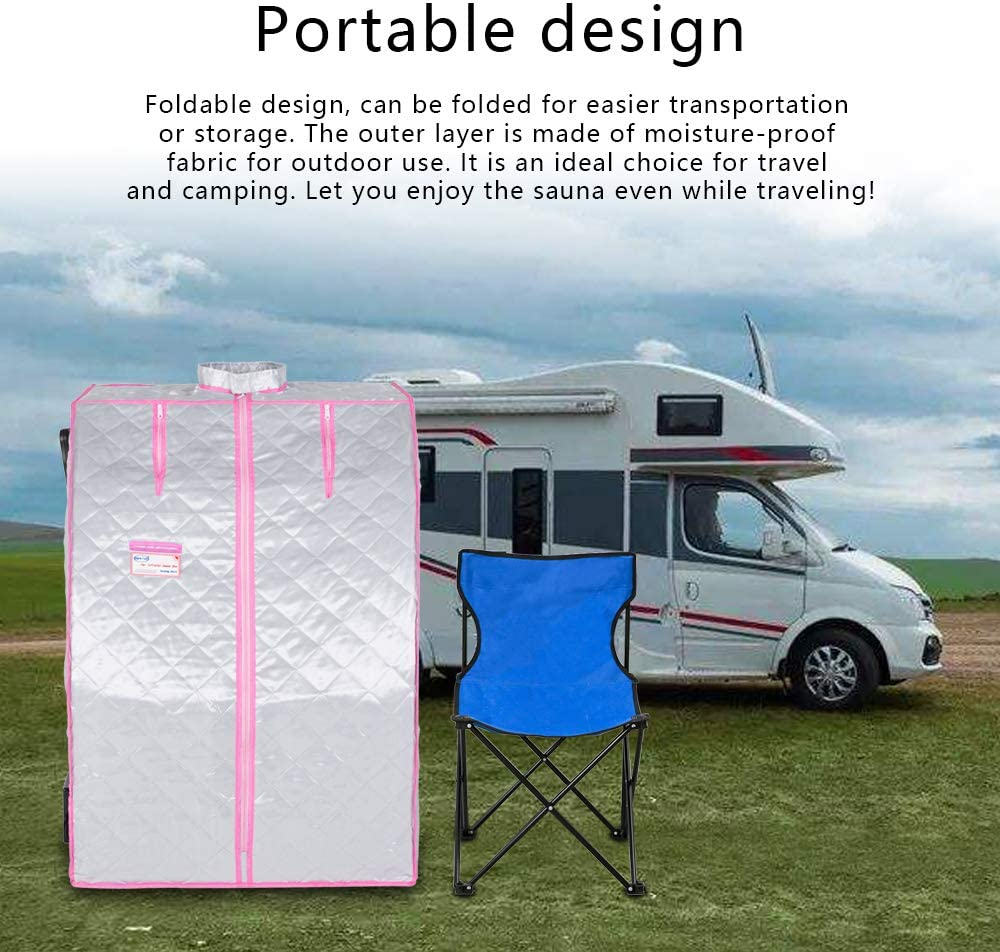 Far Infrared Home Sauna for one person Spa Portable Folding Sauna Room for Home Weight Loss,Infrare sauna tent,Detox,Relax at Home,with Bigger Heating Foot Pad,Remote Control and Foldable Chair