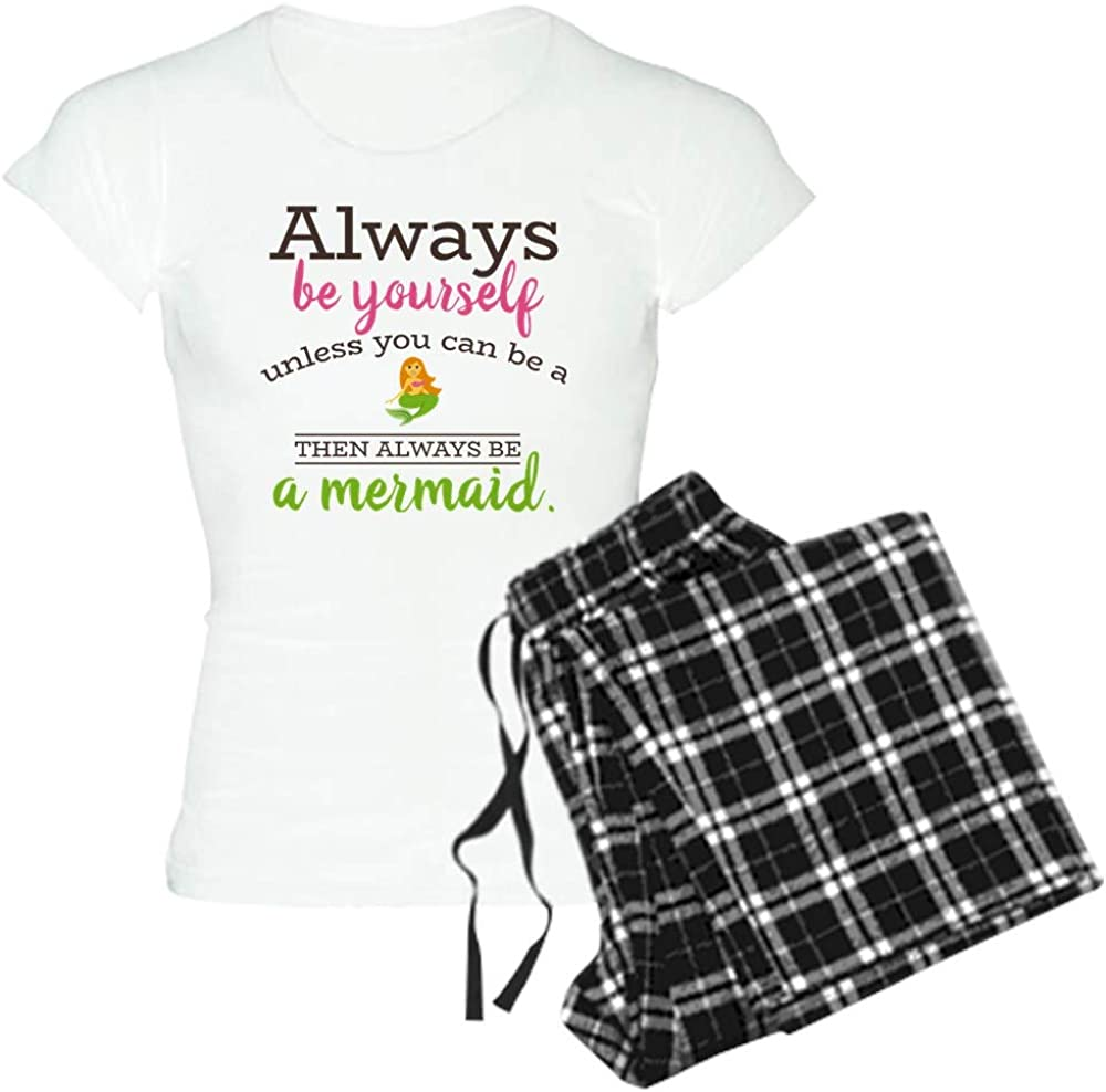 CafePress Emojione Mermaid Always Be Women's Low price Pajamas Women Light Max 50% OFF