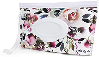 Itzy Ritzy Reusable Wipe Pouch – Take & Travel Pouch Holds Up To 30 Wet Wipes, Includes Silicone Wristlet Strap, Floral