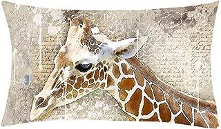 Sofa,Car Mltao Cartoon Animal Back Support Pillow,Sofa Chair Cushion Giraffe Cute Cozy Standard Pillows for Bed Back Supporting Pillow