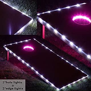 Blinngo Cornhole Board Lights, Waterproof LED Cornhole Lights, Cornhole Toss Game Set fit for Standard Cornhole Boards(4ft x 2ft)
