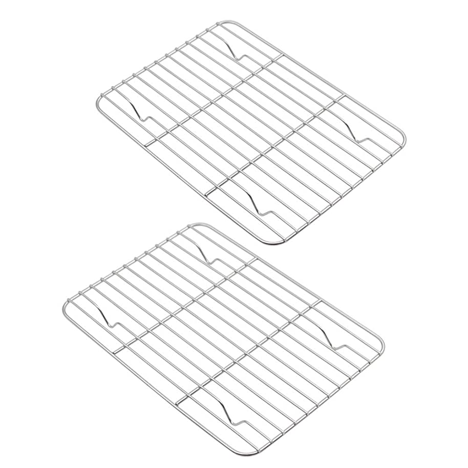 Aspire Cooling Rack 2 Pack, Stainless Steel Baking Racks for Cooking Baking Roasting Grilling-9