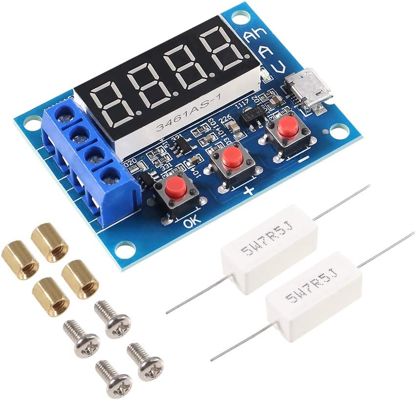 AiTrip Li-ion Lithium Lead-Acid Battery Capacity Meter Discharge Tester Analyzer 1.2-12V