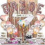 YFWUQI Bride Decoración, Despedida de Soltera Decoración para Mujeres, Novia para ser Decoración con Pancarta, Globos...