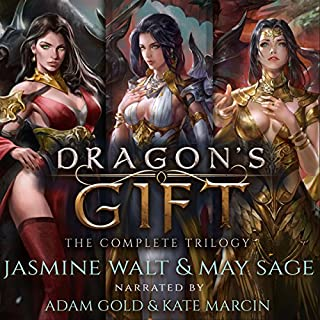 Dragon's Gift: The Complete Trilogy     A Reverse Harem Fantasy              Written by:                                                                                                                                 Jasmine Walt,                                                                                        May Sage                               Narrated by:                                                                                                                                 Kate Marcin,                                                                                        Adam Gold                      Length: 21 hrs and 28 mins     13 ratings     Overall 3.8