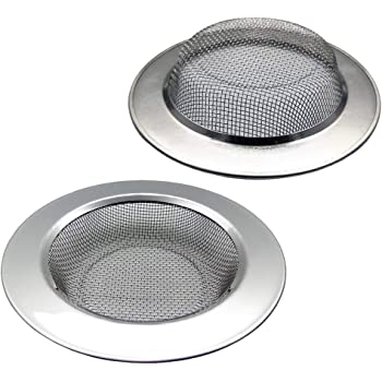Durable Construction Wide Rim Stainless Steel Kitchen Sink Strainer Drains Water Fast and Efficiently Color Coded Kitchen Tools by The Kosher Cook