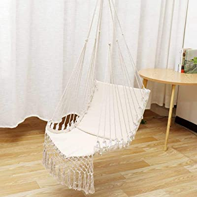 GRTG Nordic Style Hamaca Swing Al Aire Libre Jardín Interior Camping Hamaca Dormitorio Dormitorio Silla Colgante para Niños Adultos Un: Amazon.es: Jardín