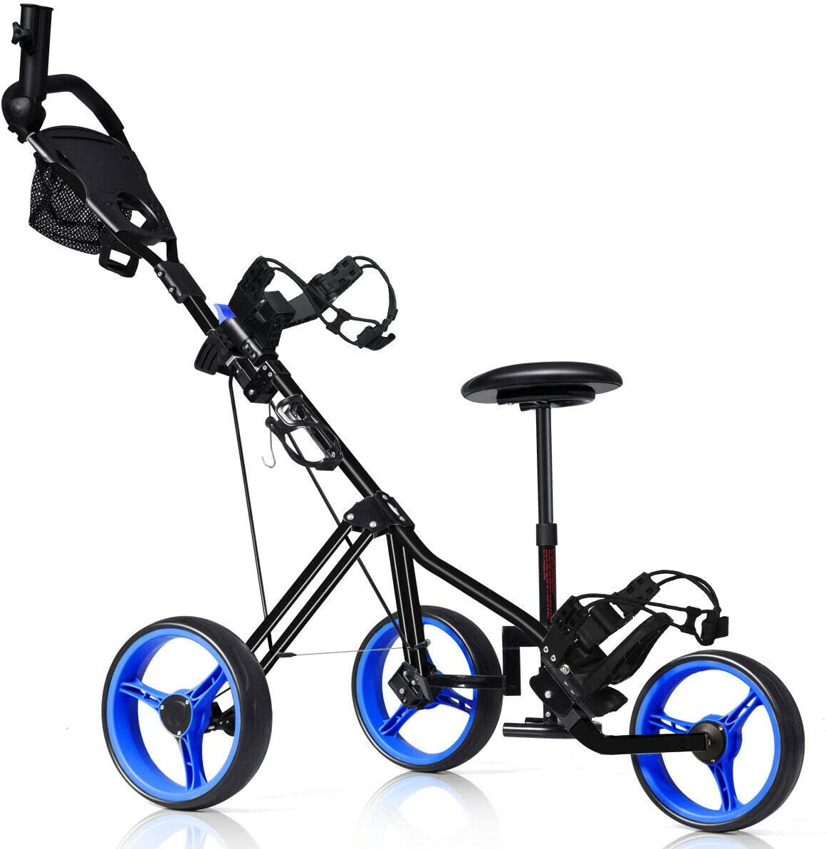 OFFer n-bright Golf Club Now on sale Cart Design 3 Foldable Lightweight Trolley Wh