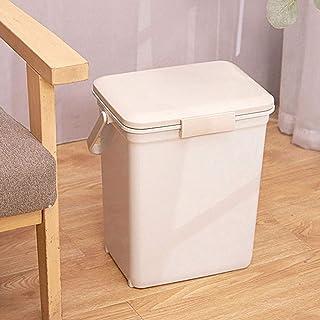 Home Kitchen Trash Cans يمكن لمستطيل الخطوة القمامة مع مقبض يمكن مع حماية الرائحة للغطاء البلاستيك القمامة الصغيرة يمكن أن...