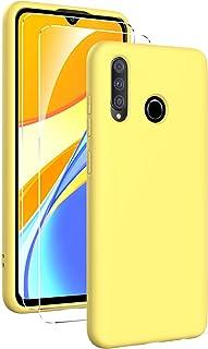 Oududianzi - Hoes voor Huawei P30 Lite Case zachte vloeibare siliconen + [2 stuks gepantserd glas screen protector], pure ...