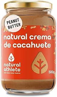comprar comparacion Crema de Cacahuete Natural Athlete 100% Cacahuete Sin Azúcar, Vegana, Sin Gluten, Sin Lactosa -500 g