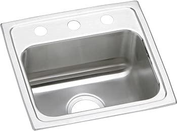 Elkay LR17162 Lustertone Stainless Steel Single Bowl Top Mount Sink