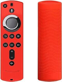 Matedepreso - Cover in Silicone Antiscivolo per Telecomando Fire TV Cube, Red, Taglia Libera (rosso)