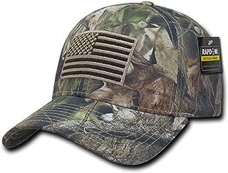 Rapid Dominance US American Flag Hybricam Mossy Camouflage Camo Baseball Cap (One Size, Camo)