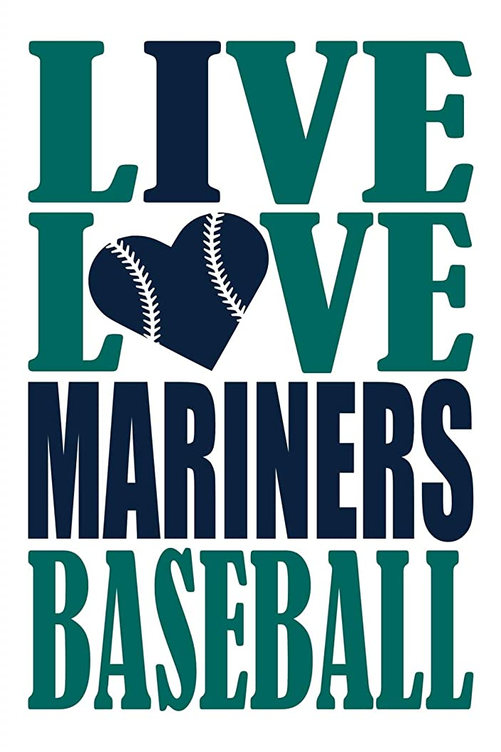 おとこ意欲再生Live Love Mariners Baseball Journal: A lined notebook for the Seattle Mariners fan, 6x9 inches, 200 pages. Live Love Baseball in green and I Heart Mariners in navy.