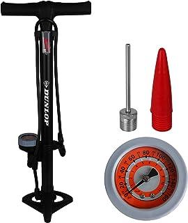 Dunlop - Bomba de Aire de pie para Bicicleta con manómetro