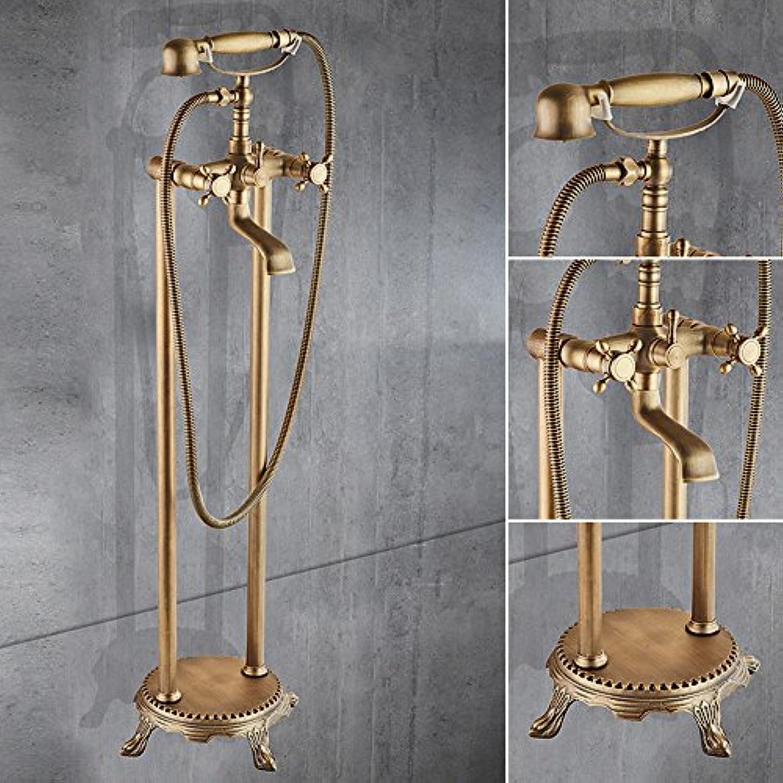 Europische kupfer schwarz bronze boden typ dusche badewanne wasserhahn Antike dusche wand Grünikale wasserhahn, Golden-2