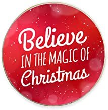 Yaya Cafe™ Christmas Gifts, Printed Believe Xmas Magic Fridge Magnets - Round