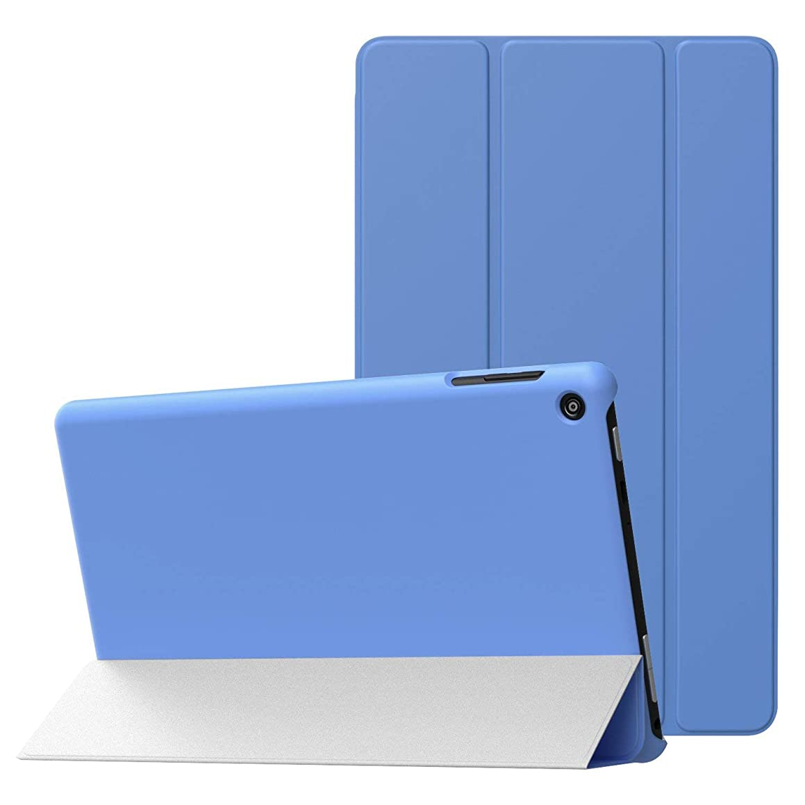 MoKo Case for Fire HD 8 2016 Tablet - Slim Lightweight Smart-shell Stand Cover with Auto Wake/Sleep for Amazon Fire HD 8 (Previous 6th Generation - 2016 Release ONLY), BLUE