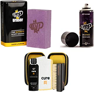 Crep Protect Suede and Nubuck Shoe Care Kit Includes the Crep Protect Rain & Stain Resistant Barrier Spray, Crep Protect C...