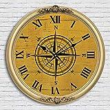 Color Agile - Reloj de pared para cocina (36 cm, sin ruido)