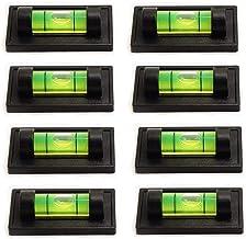 8 قطع مغناطيس صغير مستوى فقاعات 48 × 24 مم مستوى الروح مع التركيب المغناطيسي المستويات القياسية استخدام ل RV ترايبود كامير...