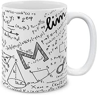 MUGBREW Math Equations Whiteboard Ceramic Coffee Gift Mug Tea Cup, 11 OZ