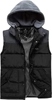 Men's Hooded Winter Vest Jacket Sleeveless Quilted Puffer