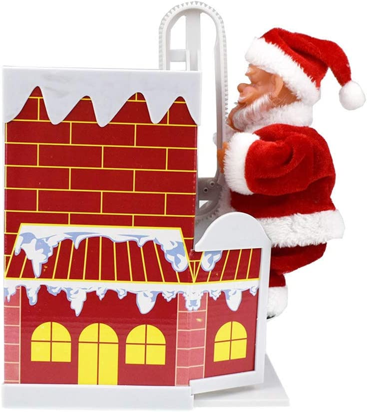 SUNGFIN Electric Singing Cheap sale Climbing Chimney Claus with New life Santa Doll