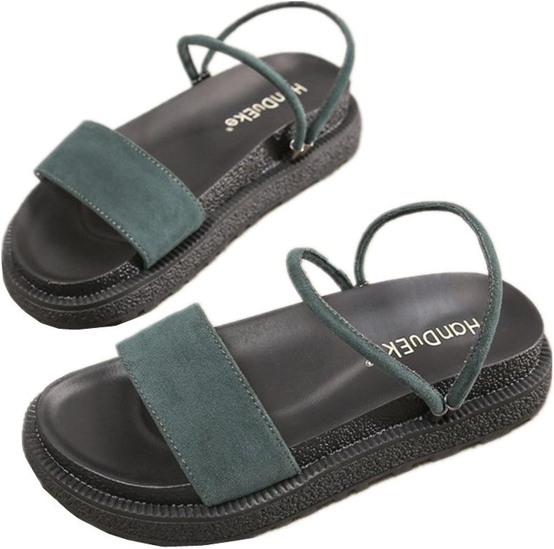 24XOmx55S99 Women Ankle Strap Sandals Open Toe Platform Slippers Beach shoes