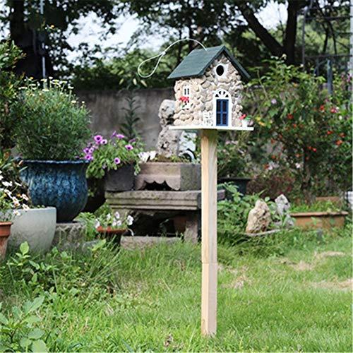 Maison d'oiseau Cour anglaise Jardin Cottages Maison D'oiseau Vertical En Plein Air En Bois Mangeoire À Oiseaux for Petite Cabane À Oiseaux Birdhouse Creative Décoration En Plein Air Maison D'oiseau P